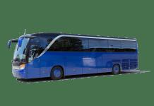 touringcar bus vakantie blauwe autobus