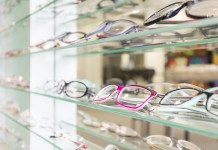 Glas Bedrijf Bril Plank Opticien Brillenwinkel