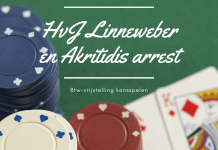 HvJLinneweber en Akritidis arrest btw-vrijstelling kansspelen