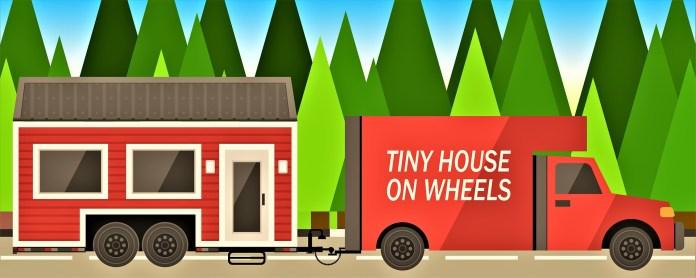 Stacaravan achter Camper Klein Huisje Tiny House