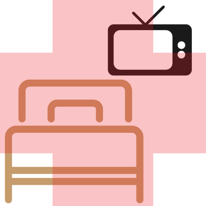verhuur van televisietoestellen aan ziekenhuispatiënten