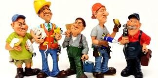 Ambachtslieden Werknemers Klussers Bouwvakkers