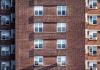 Appartementen flatgebouw flat ramen