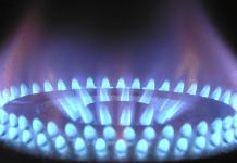 Gas Gasfornuis Blauwe vlam