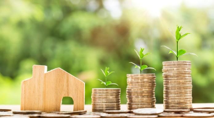 Geld Huis Munt Investeringen Business Financiering Uitstel van Betaling Vooruitbetaling
