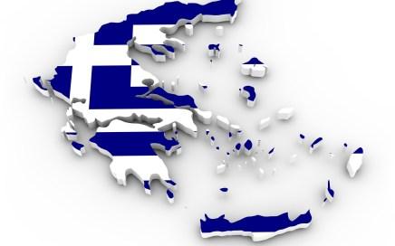 Griekenland kaart en vlag