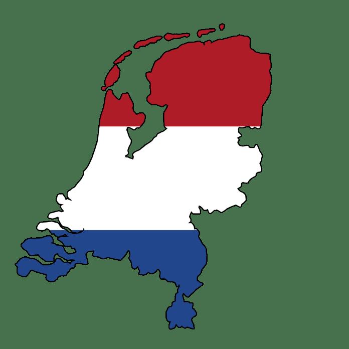 Nederland kaart en vlag NL