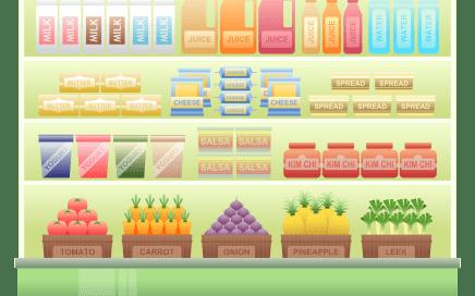supermarkt-levensmiddelen