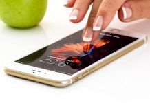 telecommunicatie met een smartphone
