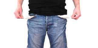 man zonder geld in zijn zakken schuld arme schulden