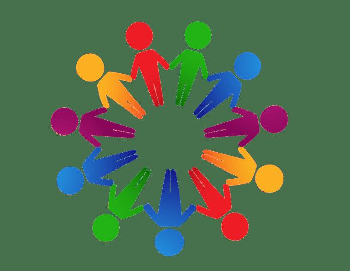 keten carrouselfraude simpel weergegeven met gekleurde poppetjes