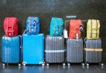 Reizigersbagage Bagage Koffers Tassen Vakantie Reis Reizen