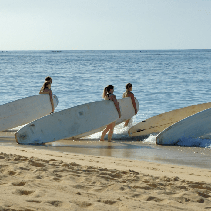 Surfschool surfles surfplank
