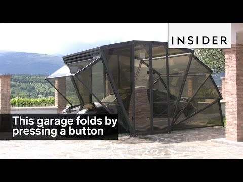 Foldable Garage Is Remotely Controlled, Provides Sleek Cover to Vehicles