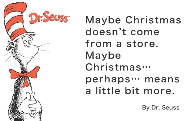 Christmas Quote of Dr. Seuss