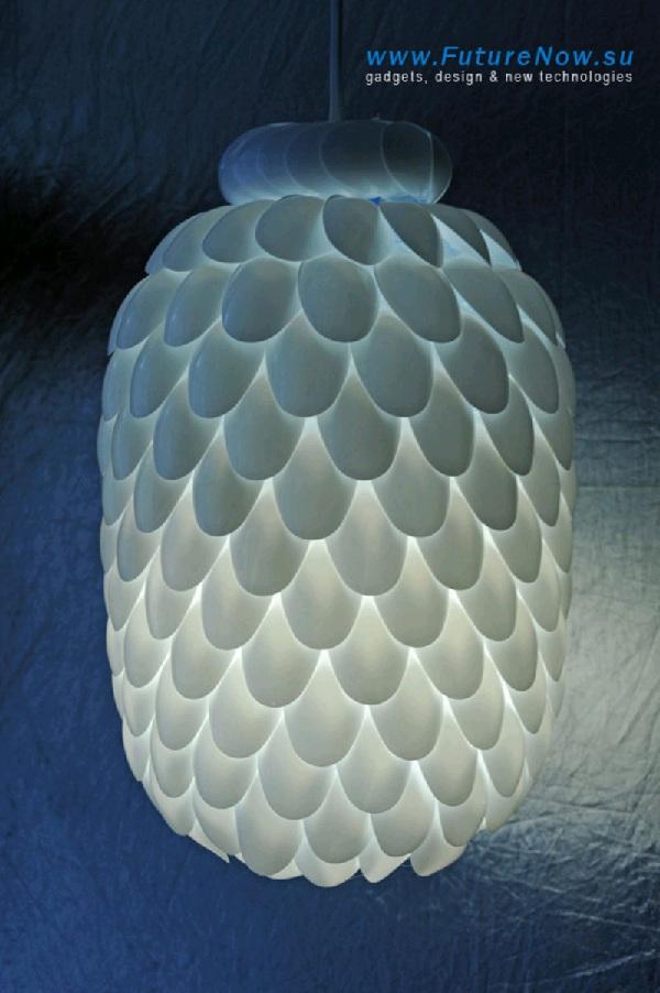 Cara Membuat Lampion Dari Sendok Plastik : membuat, lampion, sendok, plastik, Membuat, Hiasan, Lampu, Galon, Sendok, Plastik, Bekas, Buahatiku