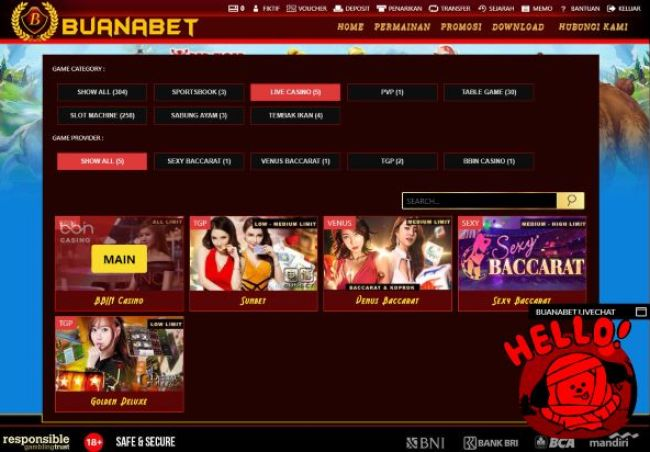 BBIN Casino White Label Buana Gaming