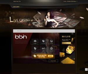 BBIN Live Casino page
