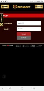 Login Handphone aplikasi White Label