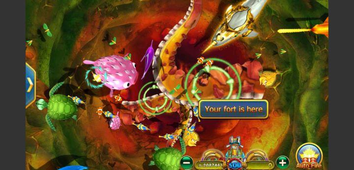 Tampilan Layar Permainan Tembak Ikan Online pada Provider DeMacao