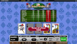 3 Of a Kind Bet 4 Joker Poker GSoft Online Gaming