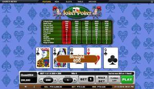 Straight Joker Poker Gsoft Online Gaming