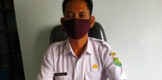 Kepala Desa Srigunung Muba Heriyanto didampingi Kasipem Ius Sudrajat, (23/7/2020).