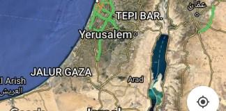 Hasil Poto dari peta palestina di maps