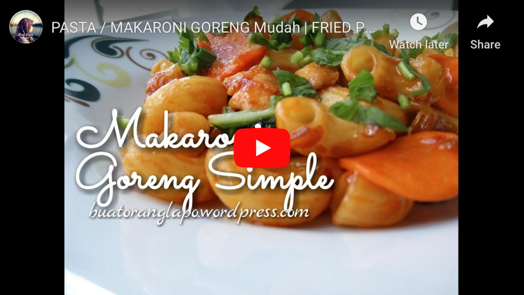 makaroni goreng simple