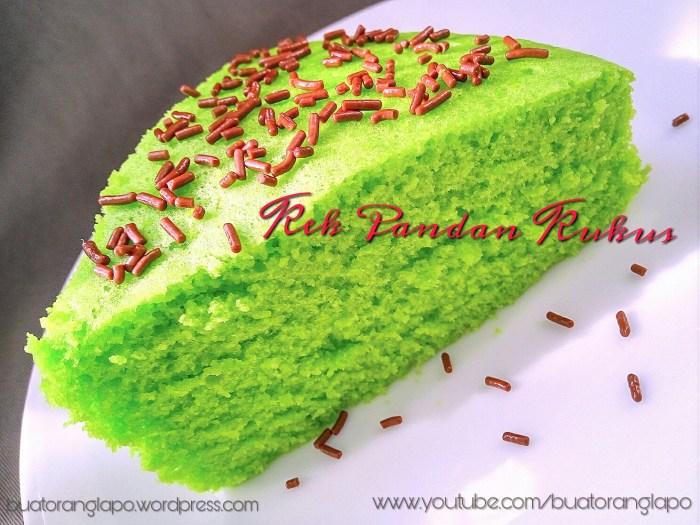 kek pandan kukus