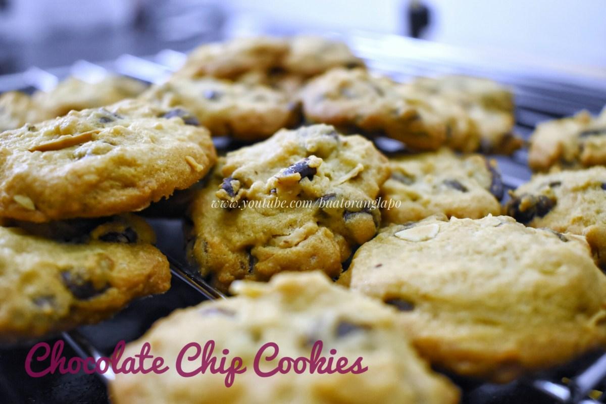 Biskut Coklat Cip Rangup (Crunchy Chocolate Chip Cookies)