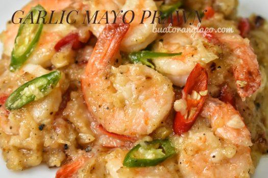 garlic mayo prawn