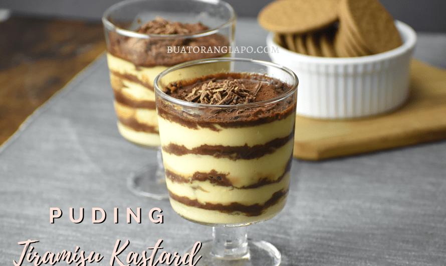 Puding Tiramisu Kastard (Custard Tiramisu Pudding)