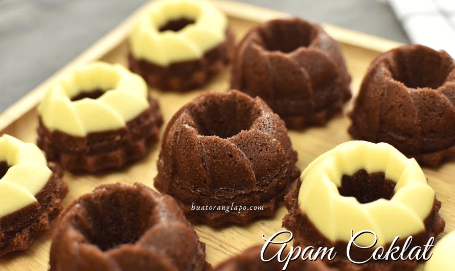 Apam Coklat Kukus Mudah Tanpa Mixer