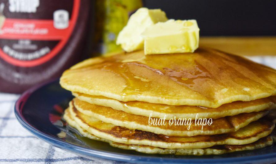 Pancake Mudah dan Gebu Untuk Sarapan