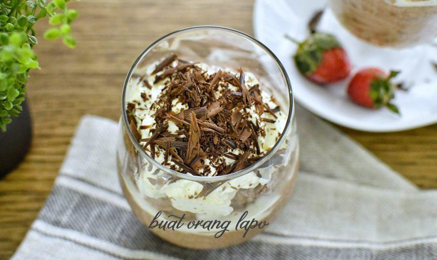 Chocolate Mousse 2 Bahan (Tanpa Telur) Rasa Aiskrim