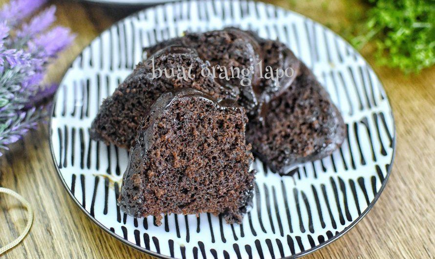 Kek Coklat Moist Kukus Tanpa Telur Sukatan Cawan