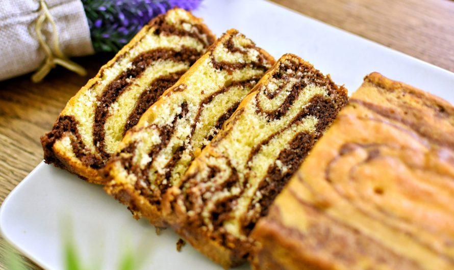 Kek Marble Lembab, Lembut Dan Gebu Guna Coklat Compound