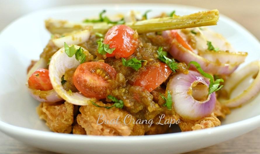 Ayam Crispy Sambal Hijau, Tips Ayam Goreng Rangup