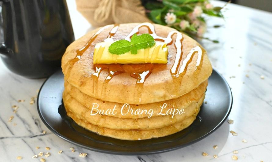 Pancake Oat Gebu Di Jamin Lembut Sampai Esok!