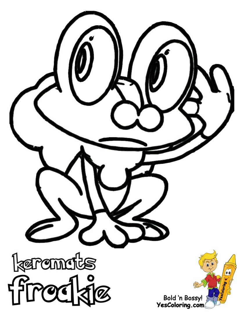 pokemon coloring pages froakie  bubakids