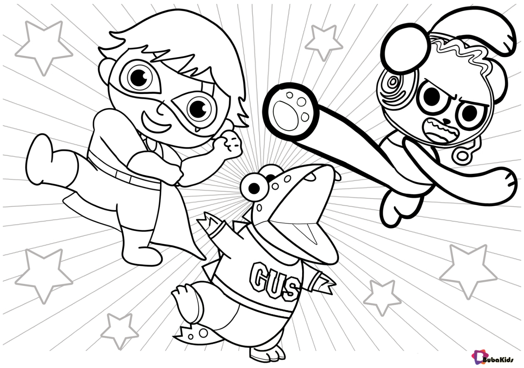Ryan S World Printable Coloring Page