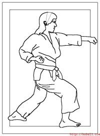 Karate Para Colorear Imgenes Para Colorear De Karate