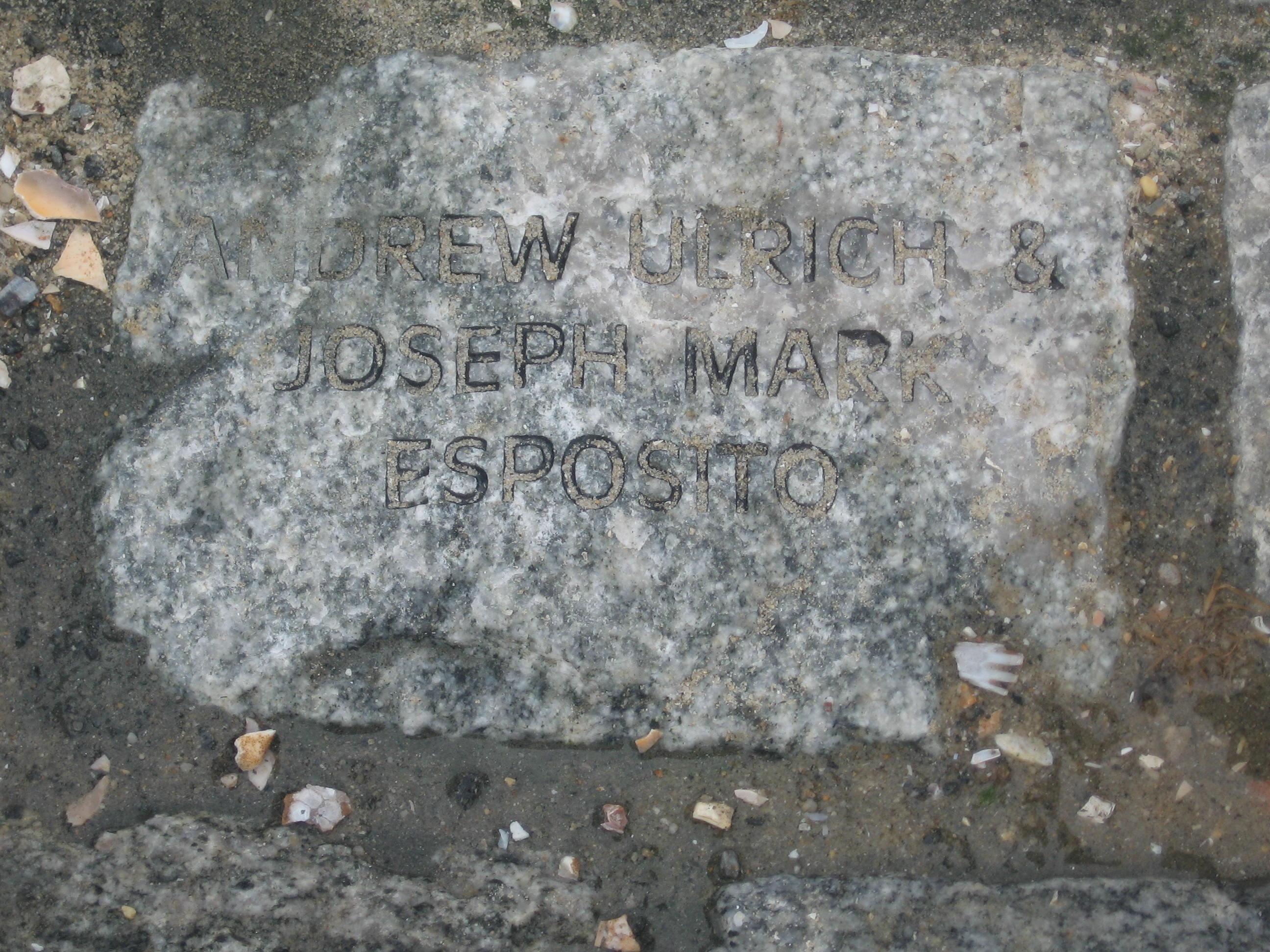 Andrew and Joseph's Memorial Stone