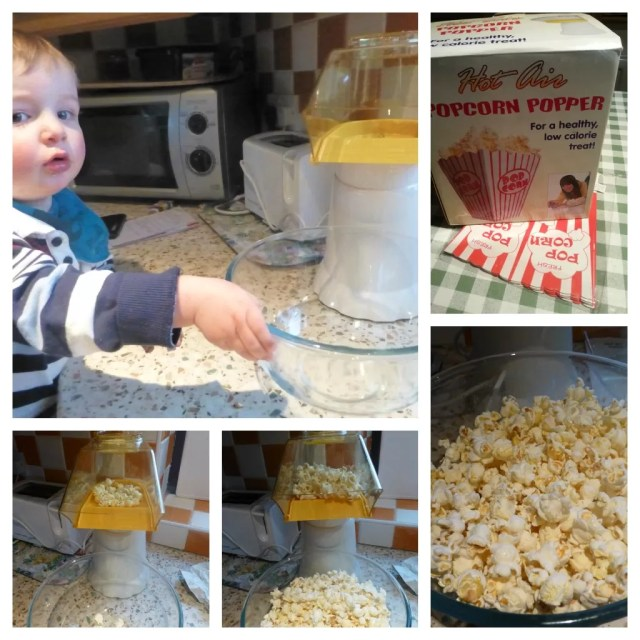 Testing the popcorn maker
