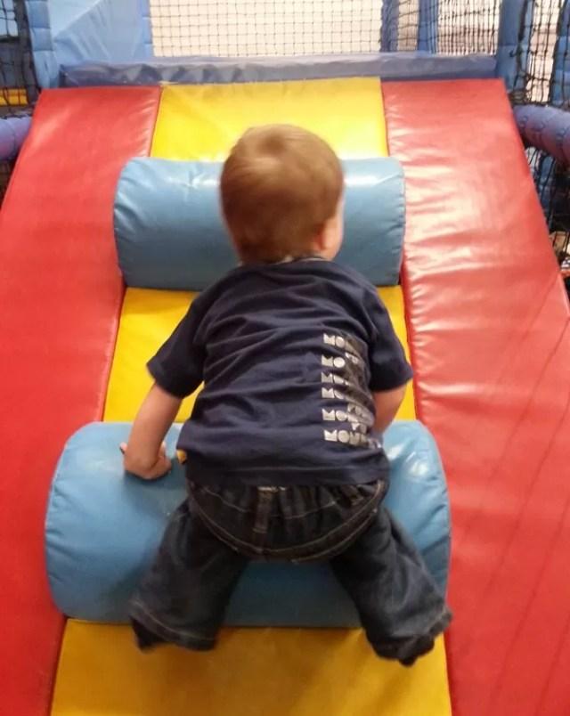 climbing at soft play