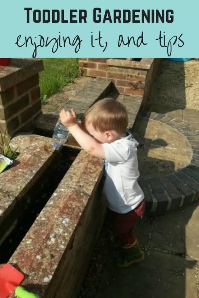 toddler gardening - bubbablue and me