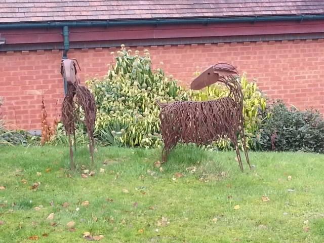 goats sculpture