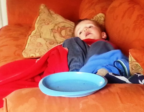 chilling toddler