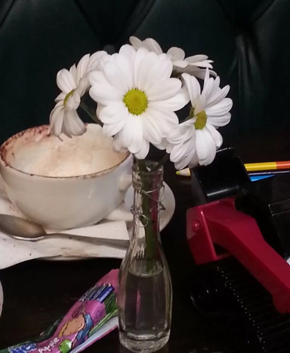pretty flowers on tables
